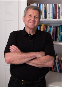 Ron black bookcase arms folded